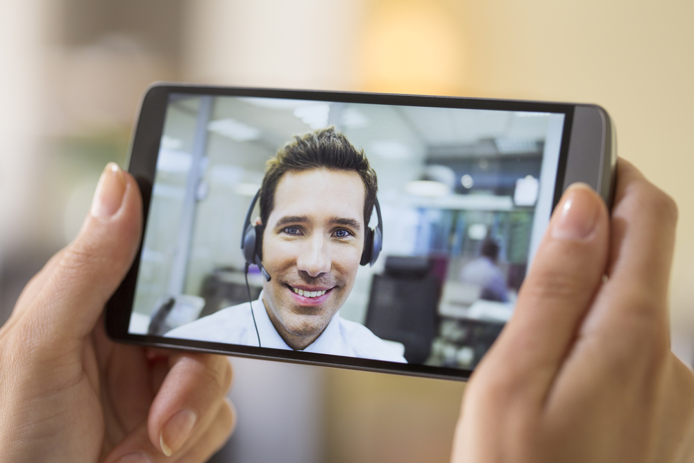 Video chat on phone